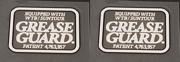 Merlin Grease Guard Decals - 1 Pair White/Black
