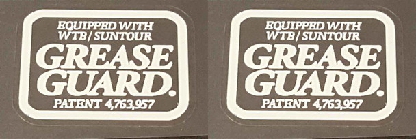 Merlin Grease Guard Decals - 1 Pair White
