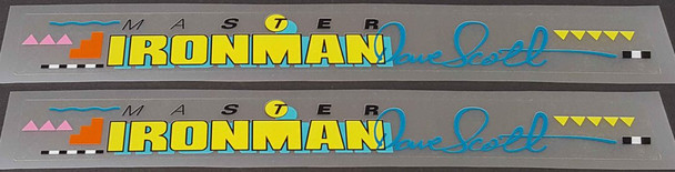 Centurion Master Ironman Dave Scott Top Tube Decals - 1 Pair - Select Colors