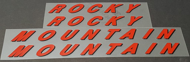 Rocky Mountain Down Tube Decals - 1 Pair - Choose Colors