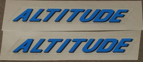 Rocky Mountain Altitude Top Tube Decals - 1 Pair - Choose Colors