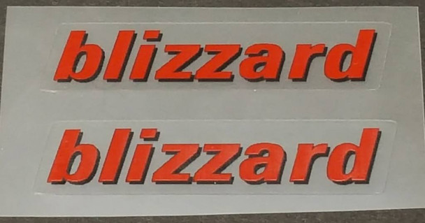Rocky Mountain blizzard Top Tube Decals - 1 Pair - Choose Colors