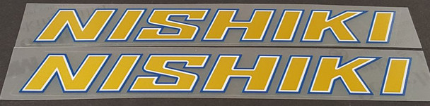 Nishiki Down Tube Decals - 1 Pair - Choice of Color