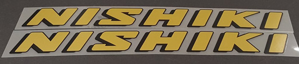 Nishiki Down Tube Decals - 1 Pair - Color Options