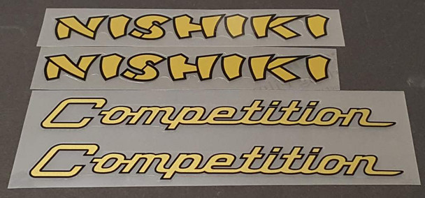 Nishiki Competition Combo Down Tube Decals  (traditional)- 1 Pair