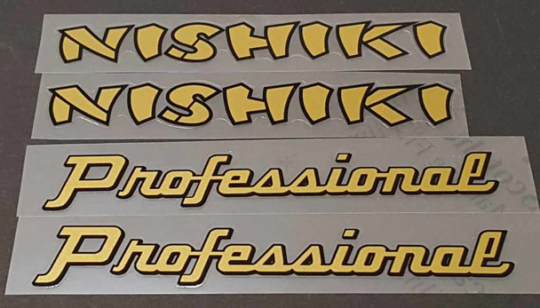 Nishiki Professional Combo Down Tube Decals  (traditional)- 1 Pair