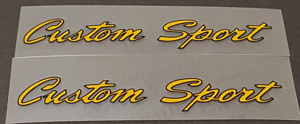 Nishiki Custom Sport Top Tube Decals - 1 Pair - Choice of Color
