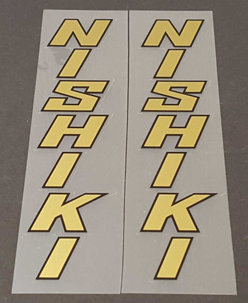 Nishiki Seat Tube Decals - 1 Pair - Choice of Color