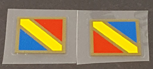 Nishiki Fork Decals - Tri-color with Metallic Gold Accent - 1 Pair