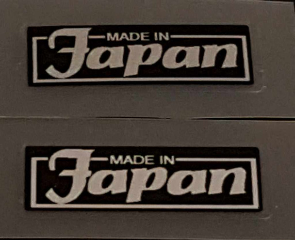 Made in Japan Decal - Silver on Black - 1 Pair