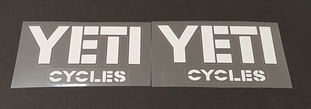 Yeti Cycles Down Tube Decals - 1 Pair - Choose Color