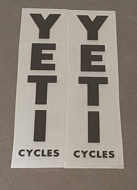 Yeti Cycles Seat Tube Decals - 1 Pair - Choose Color