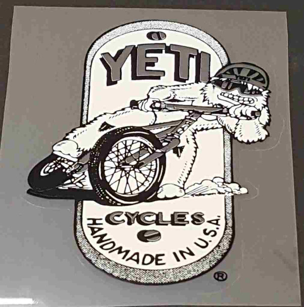 Sliding Yeti Head Badge Decal