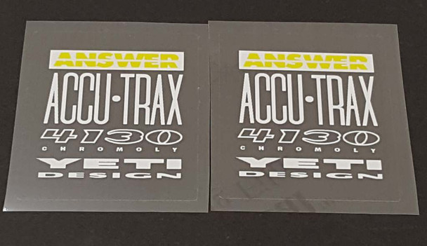 Yeti Answer 4130 Tubing Decals - 1 Pair - Choose Accent Color