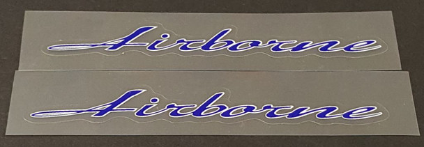 Airborne Stay Decals with Outline - 1 Pair - Choose Colors