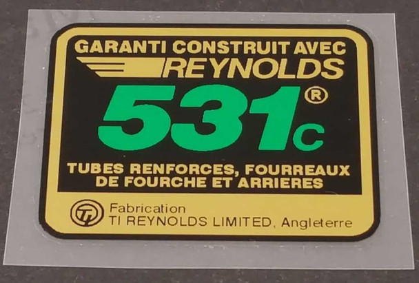 Reynolds 531c Frame Tubing Decal - French - Green
