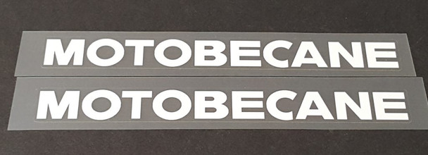 Motobecane Down Tube Decals - 1 Pair Cut Vinyl - Choose Color