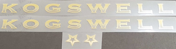 Kogswell Gradient Decal Set - Mirror Gold Outline