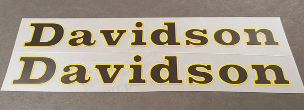 Davidson Down Tube Decals - 1 Pair - Choice of Colors