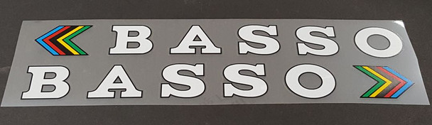 Basso Down Tube Decals w/Outline  - Choose Color