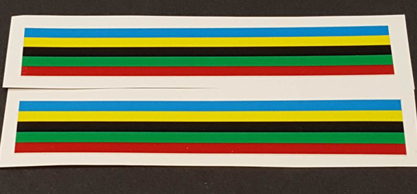 Derycke Colored Bands - Wide - 1 Pair
