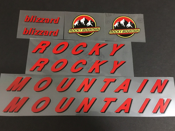 Rocky Mountain Bicycle Decal Set