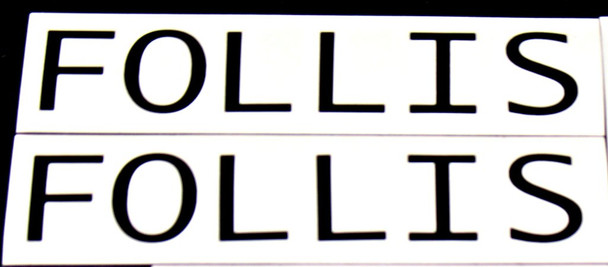 Follis Bicycle Top Tube Decals - 1 Pair - Choose Color
