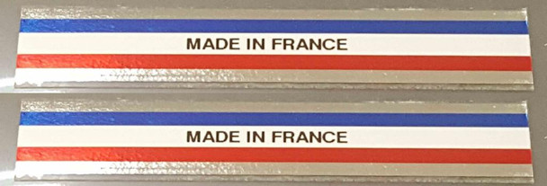 Made in France Decals - 1 Pair - Stripes/Chrome