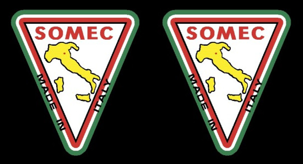 Somec Made in Italy Decals #1 - 1 Pair