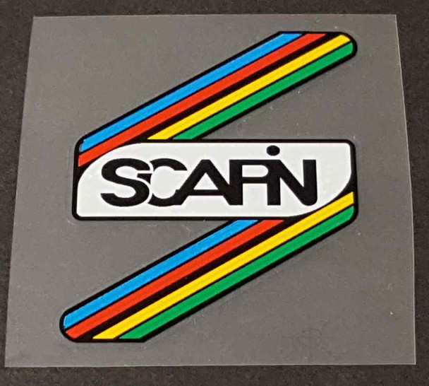 Scapin Bicycle Head Badge Decal with Stripes