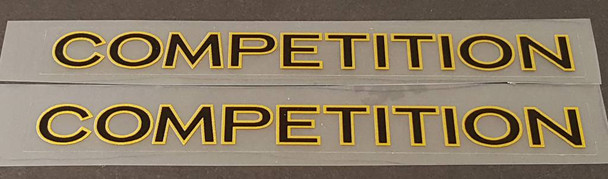 Lotus Bicycle Competition Top Tube Decals - 1 Pair - Choose Colors