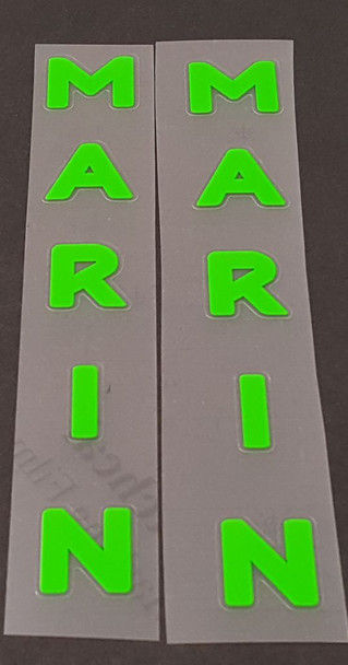 Marin Bicycle Seat Tube Decals - 1 Pair - Choose Color