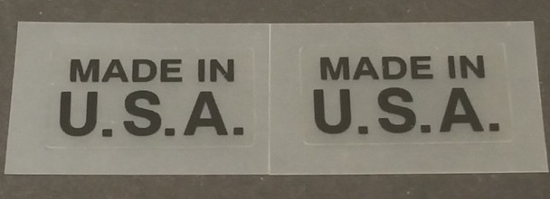 Made in U.S.A. Decals - 1 Pair