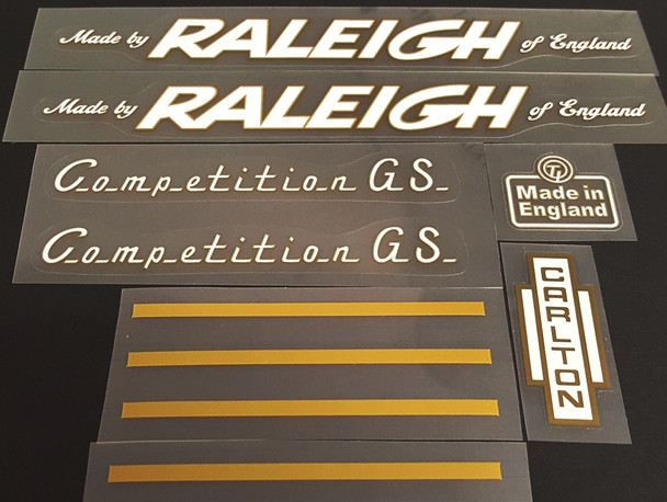 Competition G.S. - White with Gold Outline
