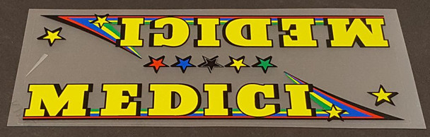 Medici Bicycle Down Tube Panel Decal--Choose Color