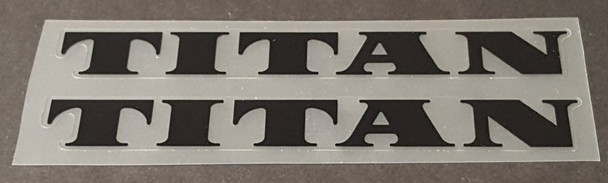 Titan Bicycle Down Tube Decals Small- 1 Pair - Choose Color