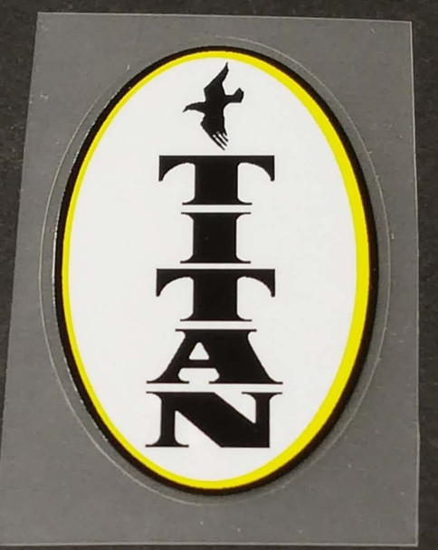 Titan Bicycle Bird Logo Head Badge Decal
