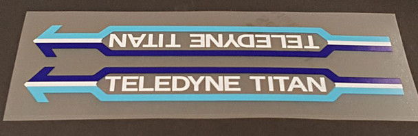 Teledyne Titan Down Tube Panel Decal