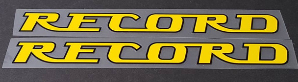 Record Bicycle Down Tube Decals - 1 Pair - Choose Colors
