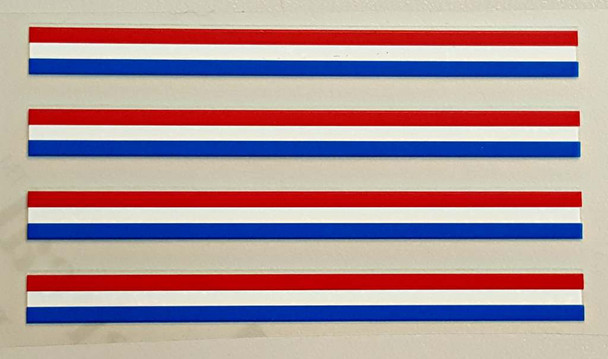 Stripes - Red/White/Blue - Small - Set of 4