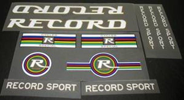 Record Sport Bicycle Decal Set
