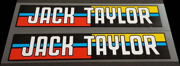 Jack Taylor Bicycle Down Tube Decals