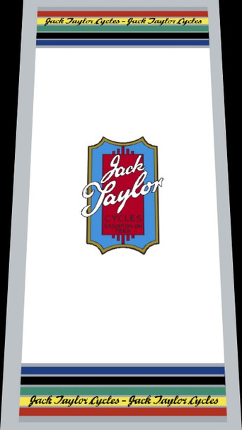 Jack Taylor Bicycle Classic Seat Tube Wrap Decal - Choose Color