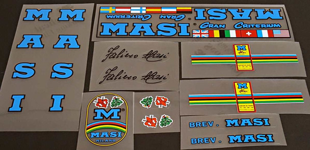 Masi Gran Criterium Bicycle Decal Set - Olympic Blue