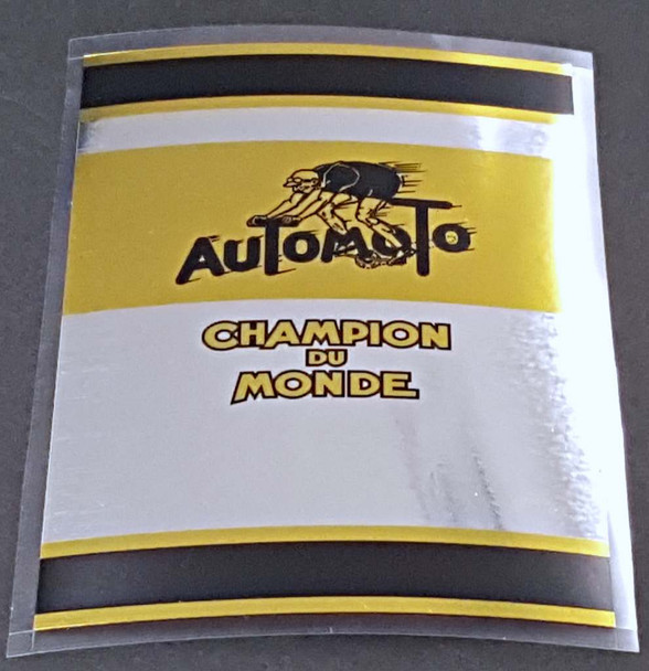 Automoto Chrome Champion du Monde Seat Tube Wrap Decal