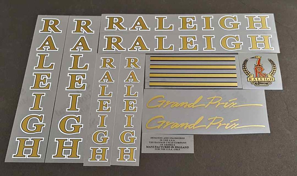 Raleigh Grand Prix Bicycle Decal Set