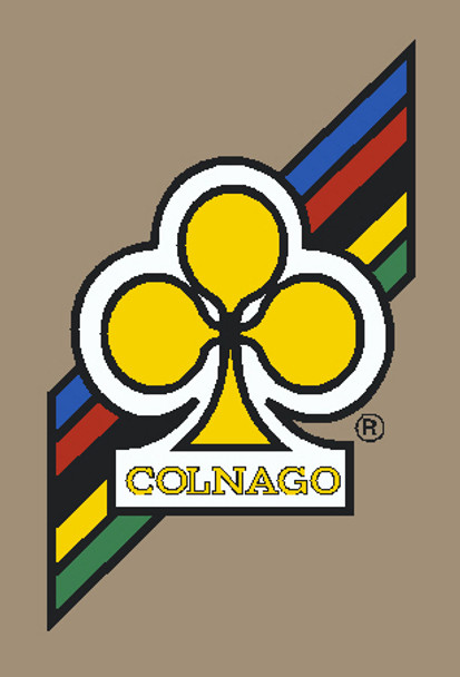 Colnago Head Badge Decal Yellow Clover