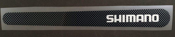 Shimano Chain Stay Protector Decal - Silver on Carbon Pattern