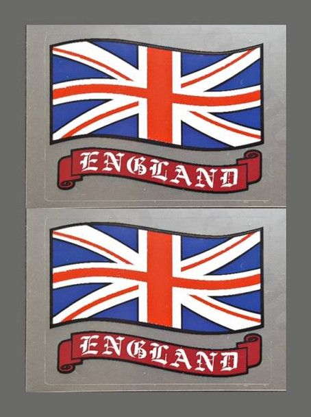 Flag of England Decals - 1 Pair - Small