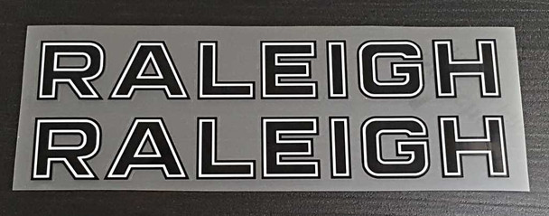 Raleigh Bicycle Down Tube Decals for Raleigh Record - 1 Pair - Choose Colors